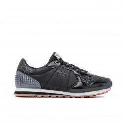 zapatillas deportivas PEPE JEANS negras con brillantes - Querol online