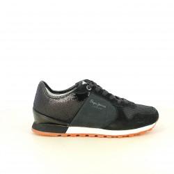zapatillas deportivas PEPE JEANS negras con lentejuelas - Querol online