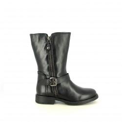 botes XTI negres amb cremalleres i sivelles - Querol online