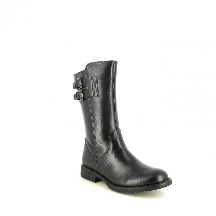 botas XTI negras con doble hebilla - Querol online