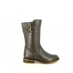 botas XTI marrones con doble hebilla - Querol online