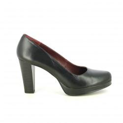 sabates de taló REDLOVE negres de pell tancades - Querol online