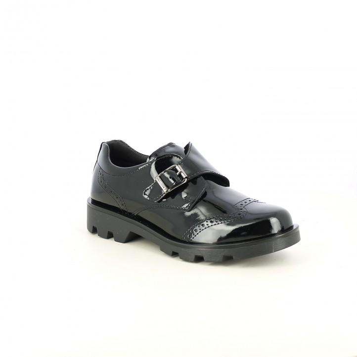 zapatos PABLOSKY negros de charol con brogue - Querol online