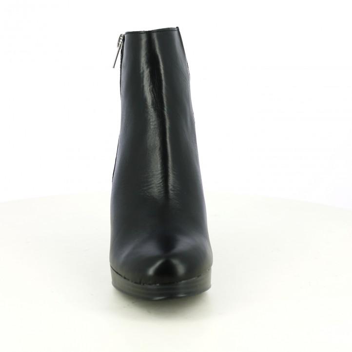botins de taló REDLOVE negres de pell amb cremallera - Querol online