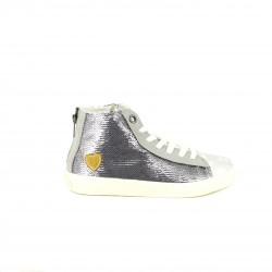 zapatillas lona PEPE JEANS botas plateadas con lentejuelas - Querol online