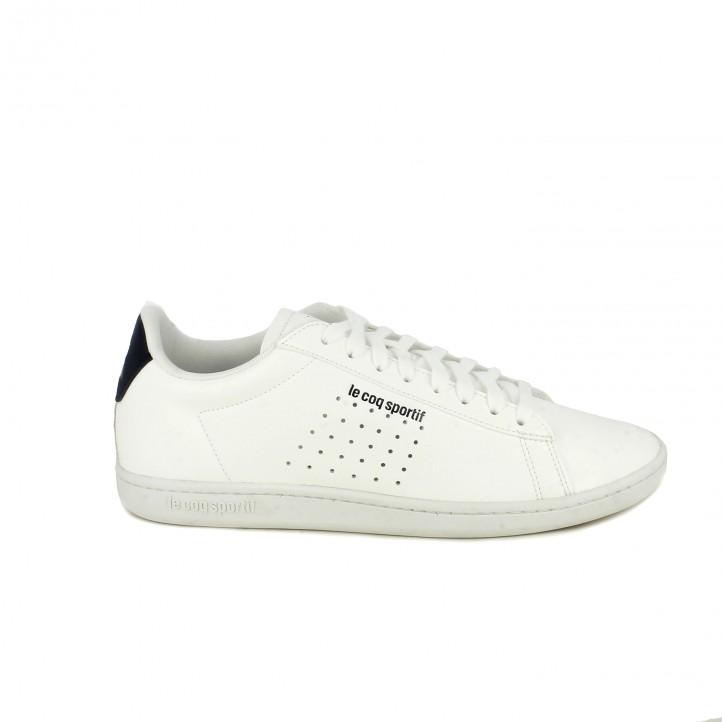 b19c4dc4af3 zapatillas deportivas LE COQ SPORTIF blancas y azul marino con cordones -  Querol online ...