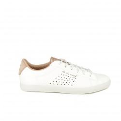 zapatillas deportivas LE COQ SPORTIF blancas y rosas - Querol online