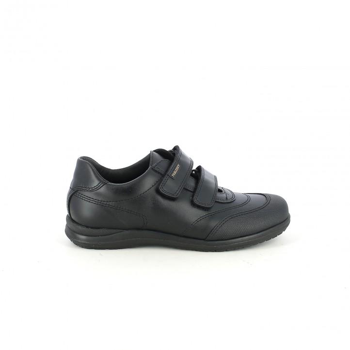 zapatos PABLOSKY negros de piel con velcros - Querol online
