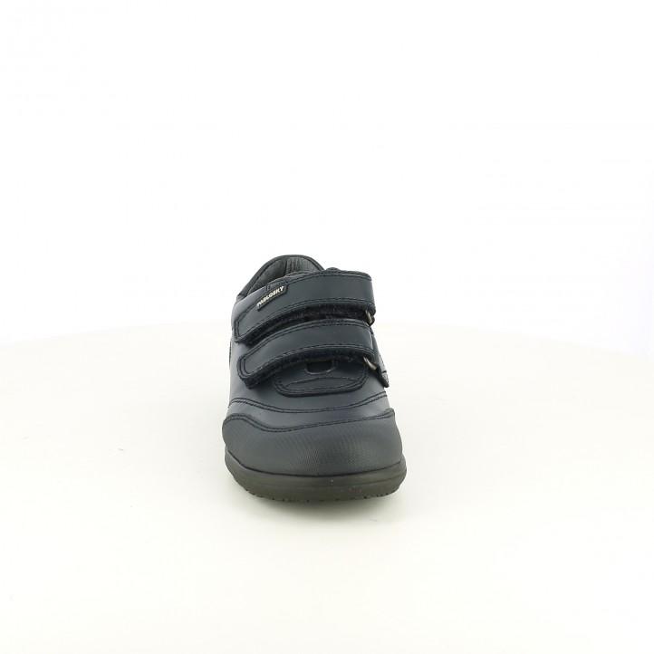 zapatos PABLOSKY azul marino de piel con velcros - Querol online