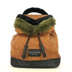 complementos SixtySeven 67 mochila marrón con pelo - Querol online