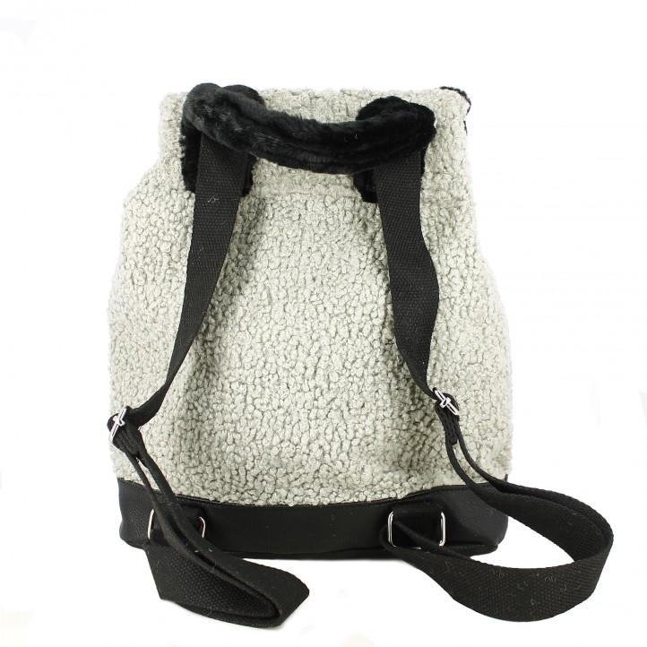 complementos SixtySeven 67 mochila gris con pelo - Querol online
