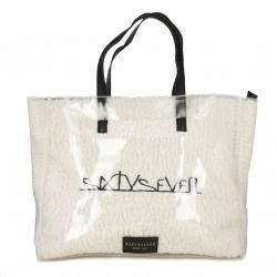 complementos SixtySeven 67 bolso con pelo blanco y funda transparente - Querol online