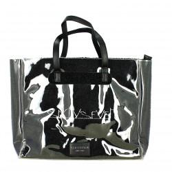 complementos SixtySeven 67 bolso con pelo negro y funda transparente - Querol online