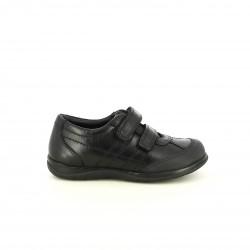 sabates QUETS! negres de pell amb dues vetes - Querol online