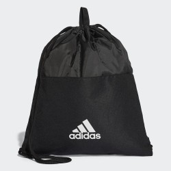 complementos ADIDAS saco negro con rayas blancas - Querol online