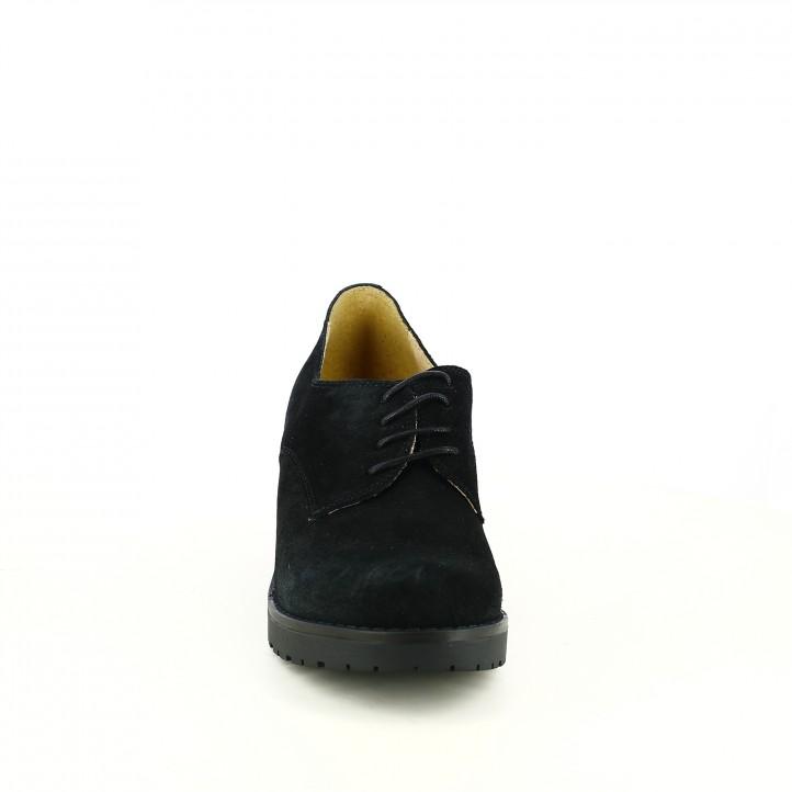 sabates de taló REDLOVE bluchers de serratge negres - Querol online