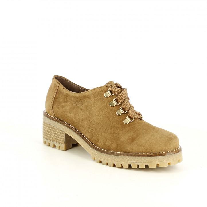 zapatos tacón REDLOVE marrones de piel cerrados con cordones - Querol online
