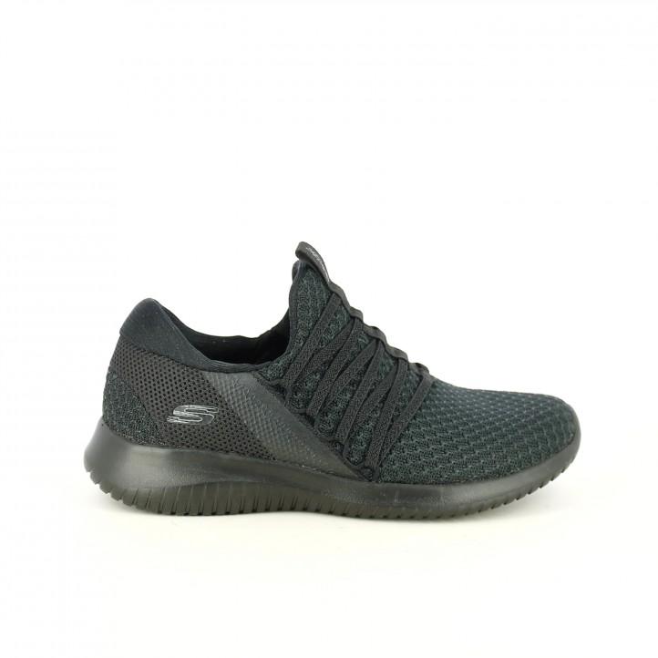 d14393ded3b8f zapatillas deportivas SKECHERS negras con gomas - Querol online ...