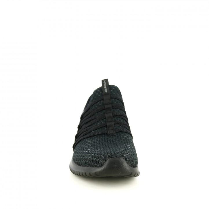 zapatillas deportivas SKECHERS negras con gomas - Querol online
