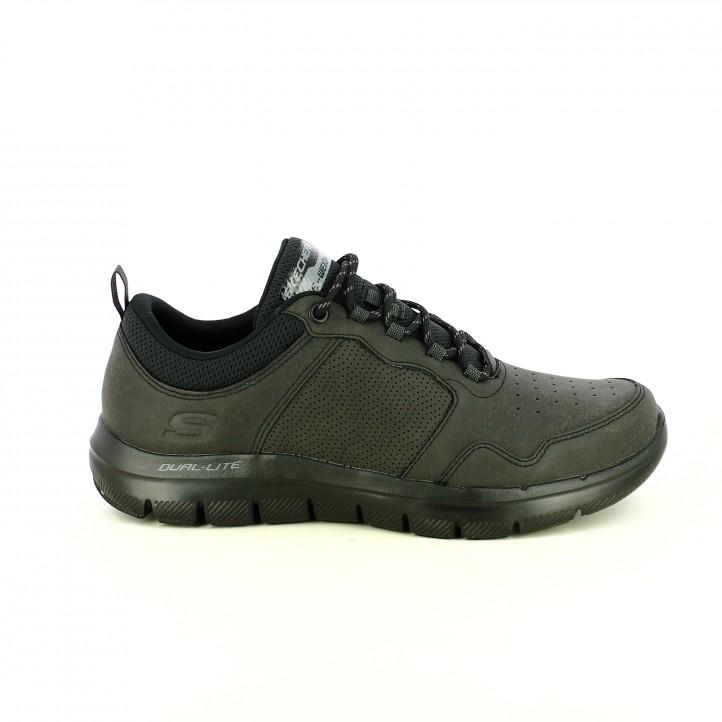 Querol con zapatos memory SKECHERS online lite foam sport negros dual Y84rY