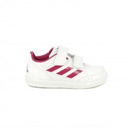 zapatillas deporte ADIDAS blancas con rayas e interior rosa - Querol online