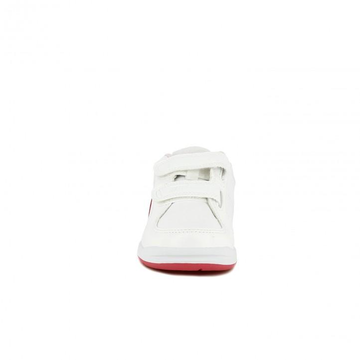 zapatillas deporte NIKE blancas y rosas de piel - Querol online