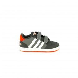 zapatillas deporte ADIDAS grises y naranjas con velcros - Querol online