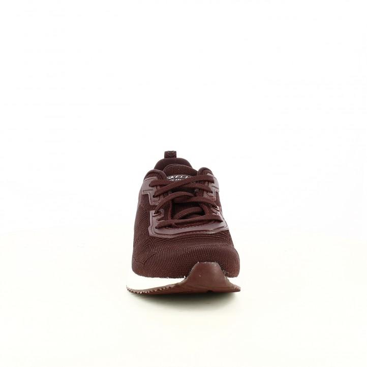zapatillas deportivas SKECHERS burdeos con memory foam - Querol online