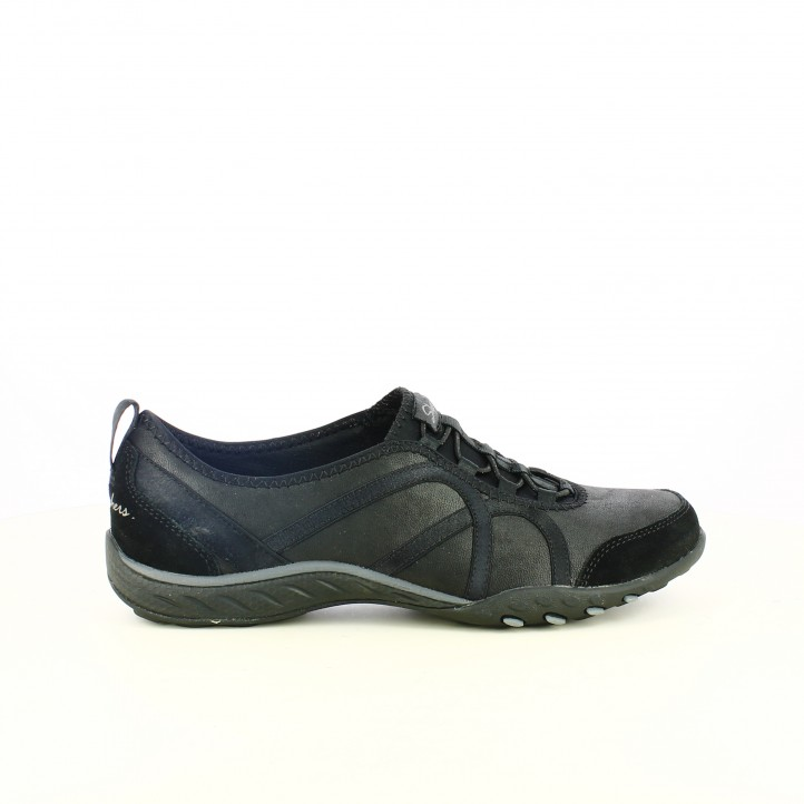 c9783c09 zapatillas deportivas SKECHERS negras sin cordones y con memory foam -  Querol online ...