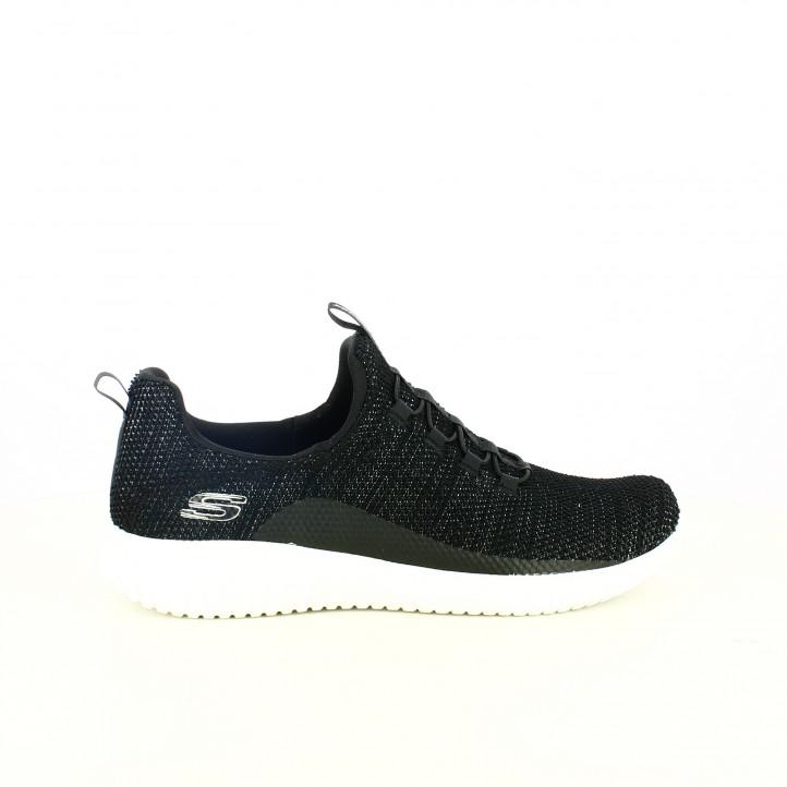 e9ecbb5cd2f1 zapatillas deportivas SKECHERS negras con elásticos y memory foam - Querol  online ...