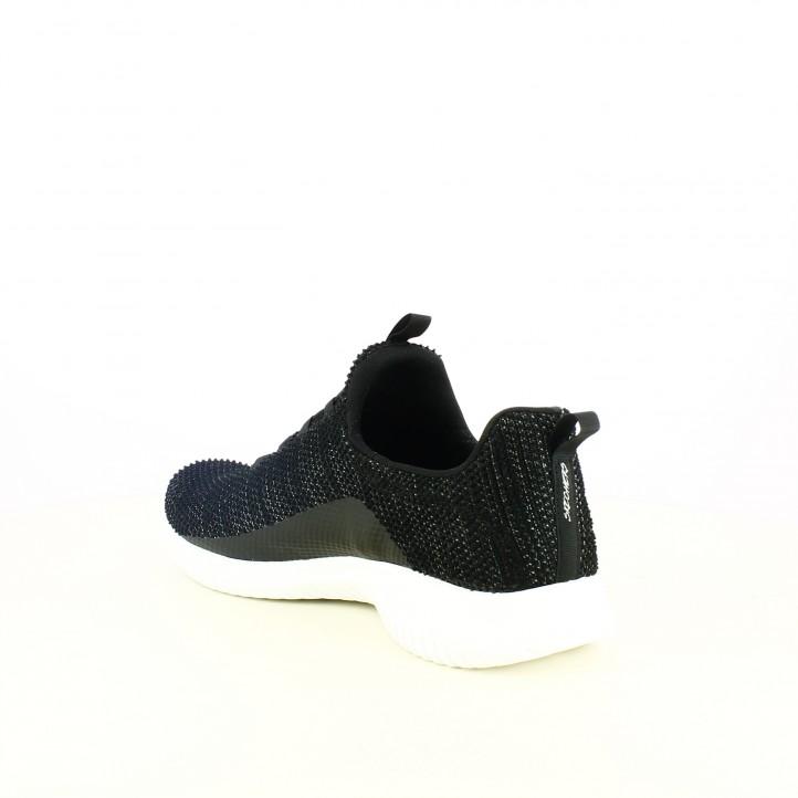 zapatillas deportivas SKECHERS negras con elásticos y memory foam - Querol online