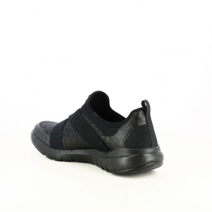 zapatillas deportivas SKECHERS negras air-cooled con memory foam - Querol online