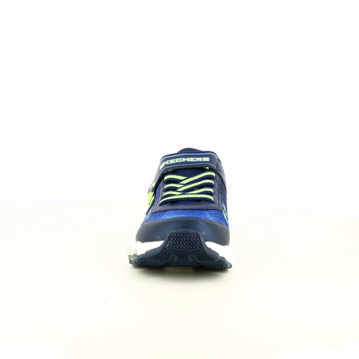 zapatillas deporte SKECHERS azules y verdes con luces - Querol online