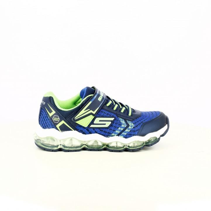 25d81c193dc3 zapatillas deporte SKECHERS azules y verdes con luces - Querol online ...