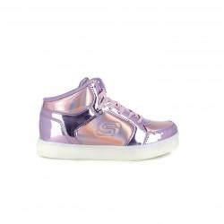 zapatillas deporte SKECHERS botas lilas con luces led - Querol online