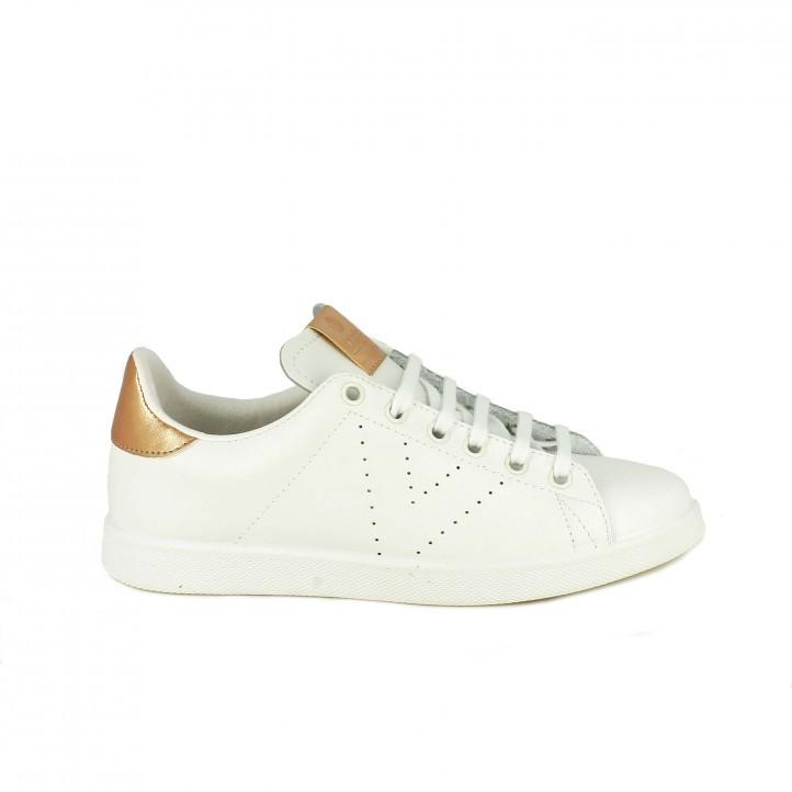 zapatillas deportivas VICTORIA blancas y metalizadas - Querol online