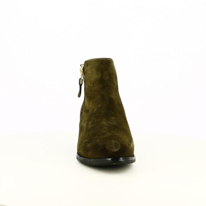 botines tacón REDLOVE verdes de piel - Querol online