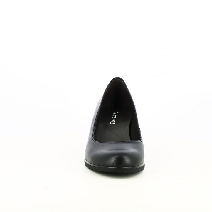 zapatos tacón SUITE009 negros de piel clásicos - Querol online