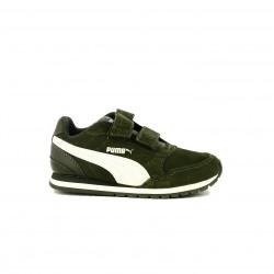 Zapatillas deporte PUMA verdes de piel - Querol online
