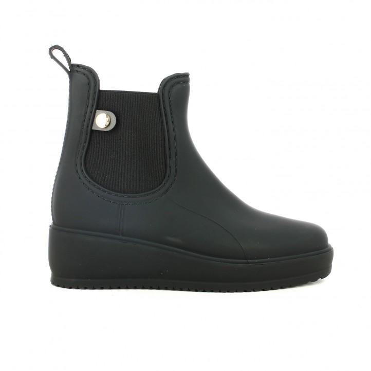 65429f89d79 botas agua GIOSEPPO chelsea negras con cuña - Querol online ...