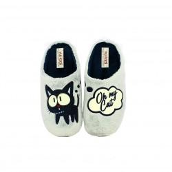 zapatillas casa VUL·LADI grises oh my cat - Querol online