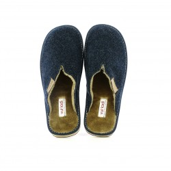 zapatillas casa VUL·LADI azules y marrones - Querol online