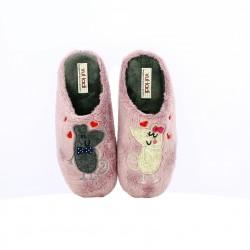 zapatillas casa VUL·LADI ratones enamorados - Querol online