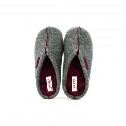 zapatillas casa VUL·LADI grises y lilas - Querol online