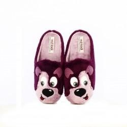 zapatillas casa VUL·LADI perro lila - Querol online