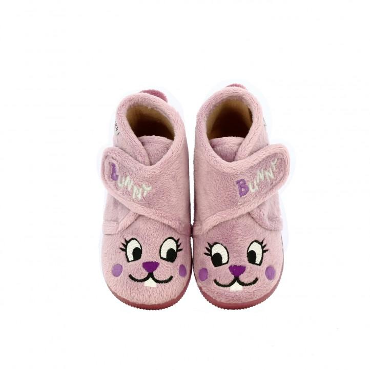 zapatillas casa VUL·LADI conejitos rosas - Querol online