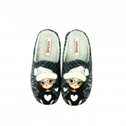zapatillas casa VUL·LADI grises princess - Querol online