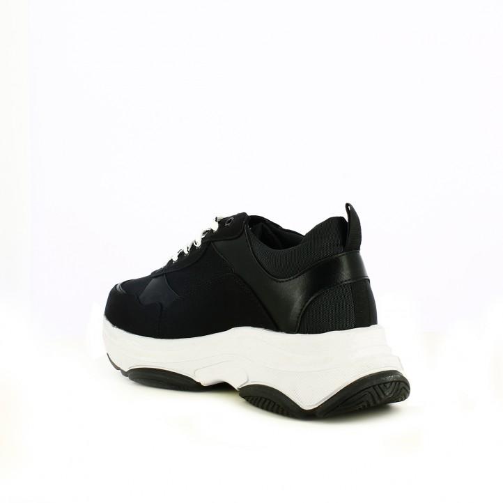zapatillas deportivas OWEL negras con plataforma - Querol online