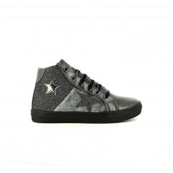 zapatillas lona ASSO grises con estrellas y purpurina - Querol online