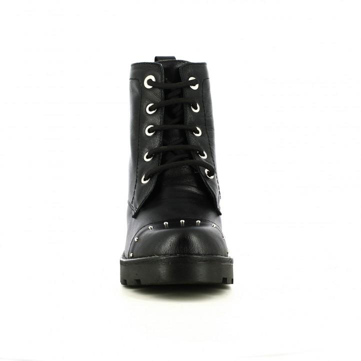 botines tacón REDLOVE negros con tachuelas y cordones - Querol online